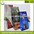 100% de grado de alimentos de china fabricante de la costumbre impresa bolsa de café