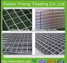 Fabricación profesional de galvanizado en caliente de acero barra de rejilla