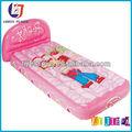 de color rosa de dibujos animados inflables colchón de aire plegable para la cama de aire