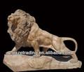 natural de piedra de mármol de la escultura de león