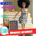negro caliente de la moda nueva muñeca de plástico de moda muñeca muñeca negro