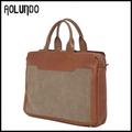 2014 tan de lujo de cuero bolso de cuero vintage maletines para hombre