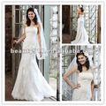 Strapless sirena cordón cordón- up vestido de novia, vestido de novia wd018