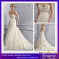 2014 recién llegado de marfil elegante Appliqued amor rebordeado longitud del piso barrido tren vestidos de novia Kleinfeld