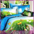 100 de algodón de impresión de mariposa conjunto ropa de cama
