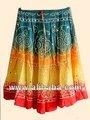 Tradicional& tie dye falda bandhage elegante para mujer faldas largas//jaipur india hecho& tie dye ghaghara larga enagua