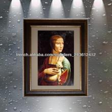 retrato pintado al óleo