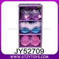 Zapatos de juguete belleza maquillaje conjunto de juegos de plástico para niña