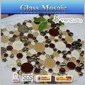 belo mosaico de vidro do aquário redondo