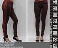 sexy skinny pantalones de mezclilla de color a juego pantalones vaqueros de mujer de manufactura de china
