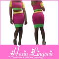venta al por mayor más reciente 2014 sexy de dos piezas vestido de vendaje