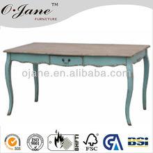 mezquino azul de la sala de la consola de mesa con el almacenamiento de estilo francés de diseño