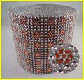 24 rangée de plastique imitant la fausse pierre strass avec un rouleau de maille de tissu