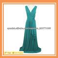 2013 señoras vestido largo azul atractivo con Backless vestido de las señoras