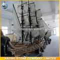 grande taille de la main la sculpture de granit sculpture bateau à voile