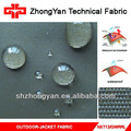 Tela nylon 100% taslan chaqueta impermeable de tela resistente al agua y transpirable tejido