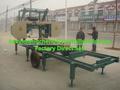 motor diesel máquina de sierra de cinta horizontal para la madera