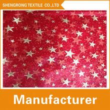 100% estrella de nylon fabirc brillo para la decoración