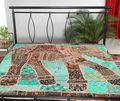 Indio colchas/cubrecamas tapiz hecho a mano patchwork india colchas