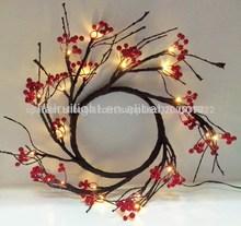 bayas de color rojo corona de alambre