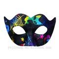divertido spider web patrón de diseño de la mitad de la cara del sexo para adultos traje de máscara