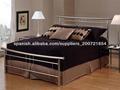 muebles de dormitorio plata hierro cama de matrimonio con listones