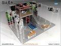 personalizado exposición piso de madera doble