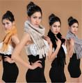 de la mujer de punto suave bufanda de piel de visón