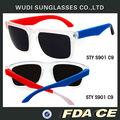 plástico marco cuadrado de color de la lente óptica más barato uv400 sobre el tamaño de las gafas de sol