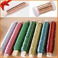 alambre de cobre de color