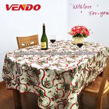100 % poliéster cocina navidad mantel/mantelería diseño de flores