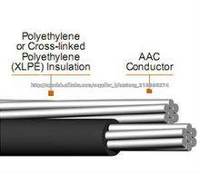Conductor de aluminio de media tensión del cable abc (aéreo por cable incluido)
