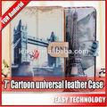 """Para andorid 7"""" universal de dibujos animados de cuero caso"""
