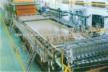 95T / D, 3200mm fourdrinier / Tipo de cable único kraft, papel ondulado que hace la máquina, la materia prima: los residuos de p