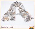 de la moda 2013 personalizado- hechos gasa de seda liso registro polvo de oro impresión pañuelo de seda chal