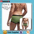 Los Hombres La Ropa Interior De Rayas Boxeadores Sexy SB1012