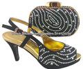 High Heel chaussures assorties de luxe italienne femme et des sacs dans Noir