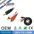 SIPU Cable AV Cable de 3,5 mm para 2rca fabricante