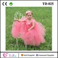 coral de cuento de hadas princesa niña de las flores tutu vestido