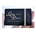 pvc membresía vip de la tarjeta del hotel menú de tarjetas
