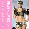 venta al por mayor de moda chica sexy uniforme de soldado de conjunto