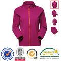 Negro de la chaqueta a prueba de viento impermeable para las mujeres