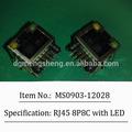 rj45 conector hembra con led