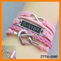 2014 hermana pulsera Ilimitado pulsera de la amistad ZTTG-0285