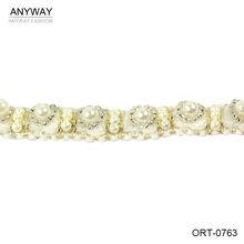 cinta alta calidad de perlas cuentas lujoso