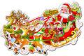 glitter cortado natal papai noel de trenó de etiquetas para portas de vidro decoração