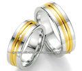 anillos de acero de la moda
