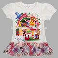 ( h4681) blanc, 18m-6y nova usine joli bébé vêtements en coton d'été cool enfants gros robes des filles