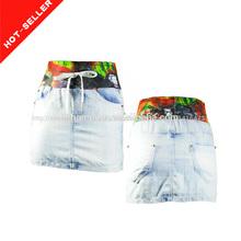 ( #tg1005f) 2014 nuevo dibujo artístico cintura tela de imágenes de las mujeres maduras con faldas cortas
