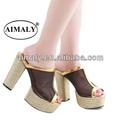 zapatos cómodos / grueso talones de la sandalia